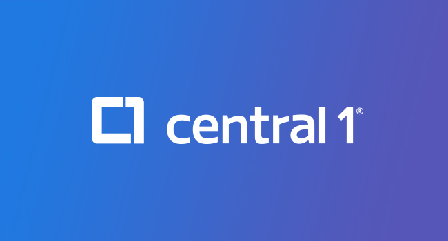 Central 1 Banner - Blue to Purple Background