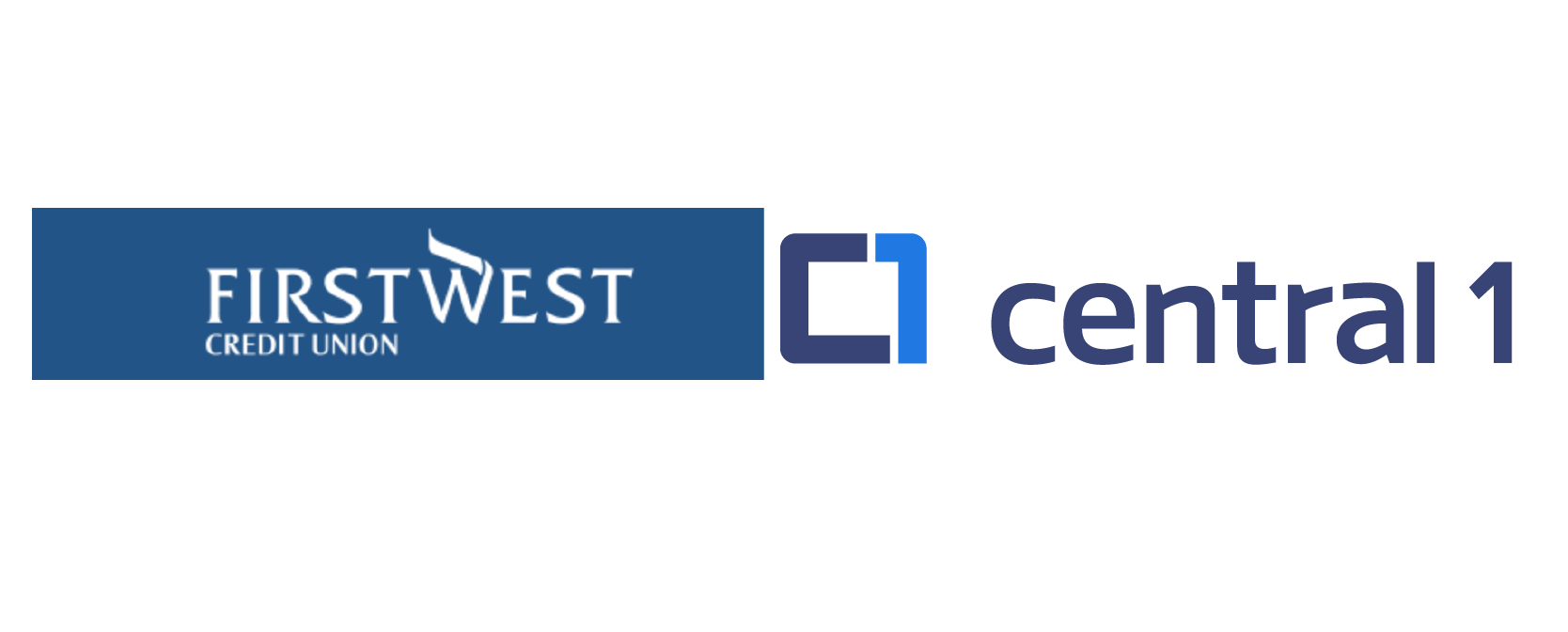First West credit union and Central 1 logos