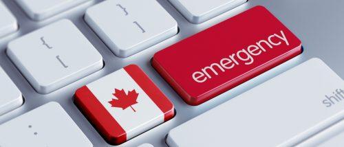 Canada High Resolution Emergency Concept