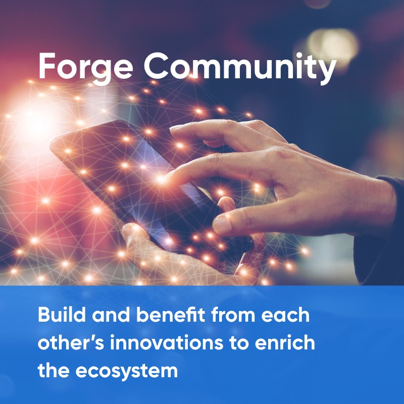 Build and benefit from each other's innovations to enrich the ecosystem using Forge Community