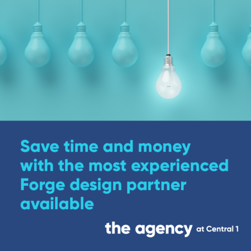 Save time & money with the most experienced Forge design partner available, The Agency at Central 1. Click to learn more