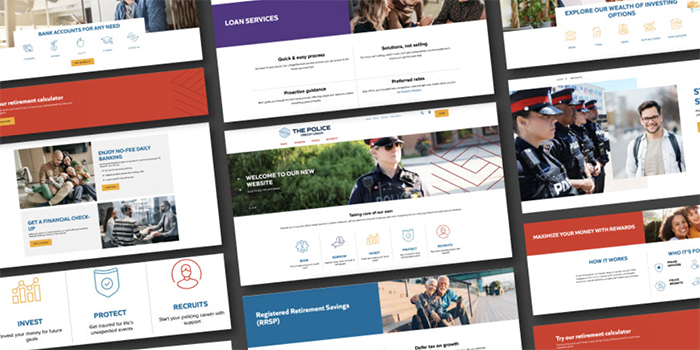 The Police Credit Union visuals