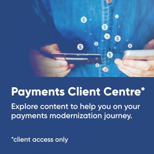 Payments Client Centre mega menu tile
